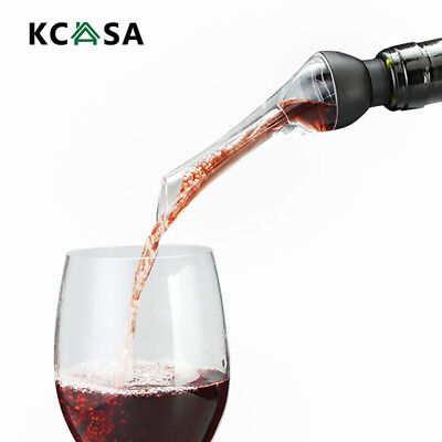 KCASA Instant Red Wine Aerator Quick Wine Spout Bottle Pourer Aerating Decanter
