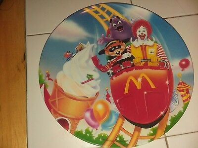 McDonalds Collectors Plastic Plate 1993 Ronald Roller Coaster