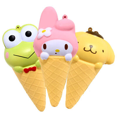 1PCS Cartoon Cone Kawaii Scented Slow Squishy Jumbo Cream Squishies Rising Cute