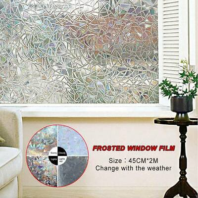 Sand Blast Clear Privacy Frosted Frosting Removable Window Glass Film 2M AU