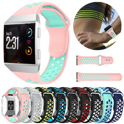 For Fitbit Ionic Sport Smart Watch Band Silicone Strap Soft Replace Bracelet Set