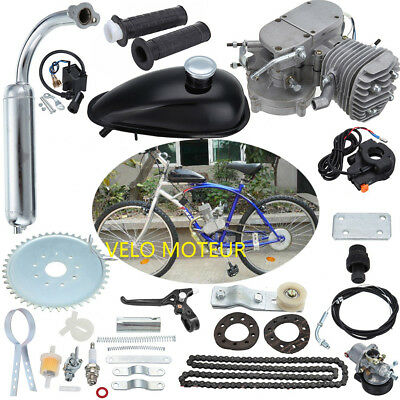 80cc 2 Stroke Petrol Gas Engine Motor Kit Motorized Bicycle Bike Set/2.5L/100km