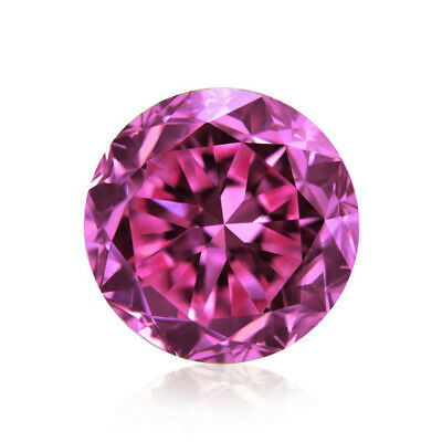Loose Moissanite Pink VVS1 5.30 MM to 7.15 MM Round Brilliant Cut