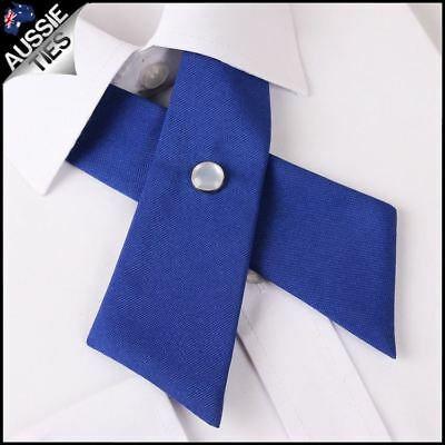 Royal Blue Womens Cross Style Bow Tie