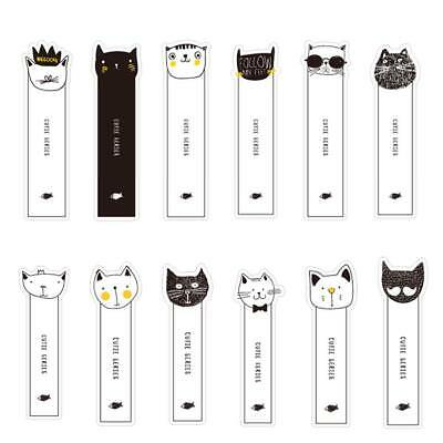 30Pcs/Set Kawaii Cat Paper Bookmark Stationery For Book Holder Message Card New