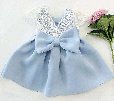UK Baby Girls Toddler Princess Dresses Kids Party Dress Summer Sundress Outfits
