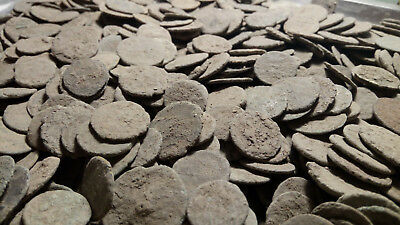 UNCLEANED ANCIENT ROMAN BRONZE COINS 50 coins - 100% authentic