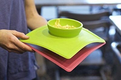 ezpz Happy Bowl One Piece Silicone Placemat + Bowl Baby Feeding Dish Plate Lime