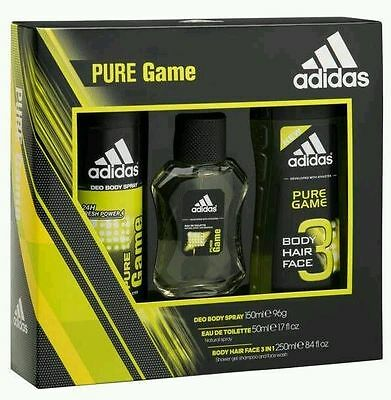 Adidas Pure Game Edt Set,ideal Christmas Gift For Your Loved Ones.