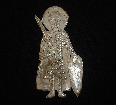 BYZANTINE Ancient Artifact - SILVER SOLDIER - Circa 1000 AD                -A664