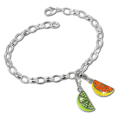 SilberDream exclusive Charms - scintillement bijoux set fruits - bracelet avec d