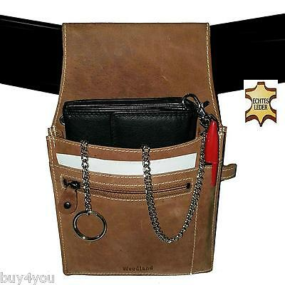 Real Leather Server Set Waiter Holster Waiter Wallet Belt Purse Bag