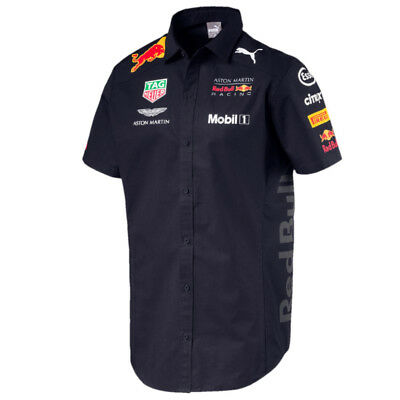 Aston Martin Red Bull Racing F1 Puma Team Hemd Offiziell 2018