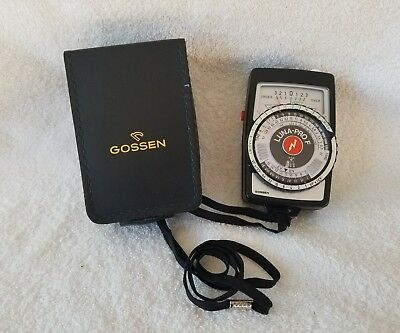 Gossen Luna-Pro F Light Meter w/ Leather Case - EXCELLENT +++ GERMANY - CLEAN