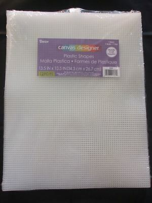 "Darice 7 Count Plastic Canvas Sheets - 13.5"" x 10.5"" (21cm x 27.9cm)- Pack of 12"