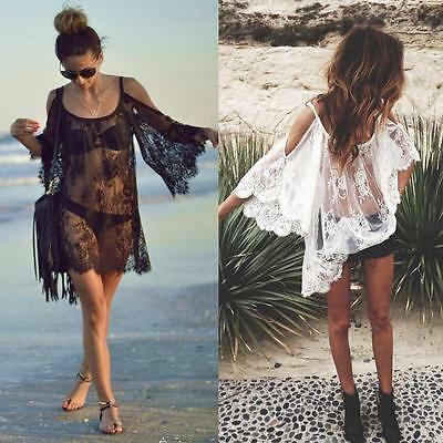 2017 Women Beach Dress Sexy Strap Sheer Floral Lace Embroidered Crochet Summe Bт