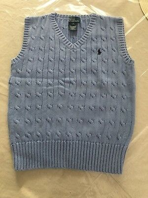 POLO RALPH LAUREN Boys Size 7 Kids Sweater Vest Cable