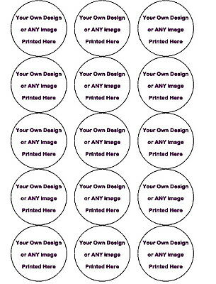 15 Pre-Cut Your Own Design Personalised Cup Cake Edible Rice Wafer Paper Toppers
