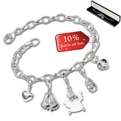 SilberDream exclusive Charms - Charm Noël ensemble bébé - bracelet avec charms d