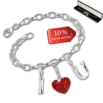 SilberDream exclusive Charms - Charm set I Love U - bracelet avec charms d'argen