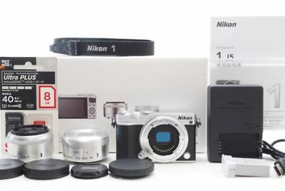 MINT NIKON 1 J5 w/ VR 10-30mm PD-ZOOM, 18.5mm f/1.8 Double Lens Kit from Japan