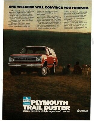 1976 PLYMOUTH Trail Duster Trailduster 4Wd 4x4 Red Truck VTG PRINT AD