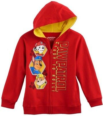New PAW PATROL Zip Hoodie Jacket Boys Lg 7 MARSHALL Coat RUBBLE Sweatshirt CHASE