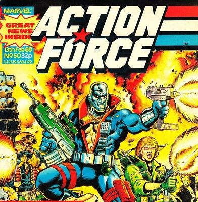 ACTION FORCE UK Strips Comic Books & Annuals on DVD
