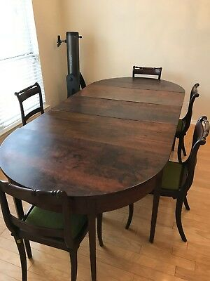 18th cent. C Hepplewhite 3-part Dining Extension Table - Walnut