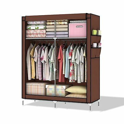 Intirilife  Lockable and Foldable Wardrobe Shelving System with Clothes Rail,...