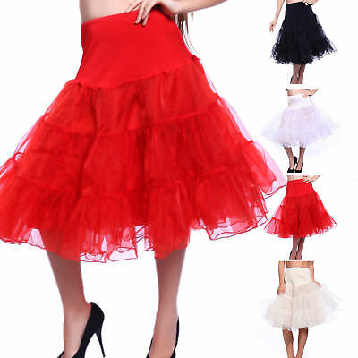 "27"" Retro Underskirt 50s Swing Vintage Petticoat Rockabilly Tutu Fancy Net Skirt"