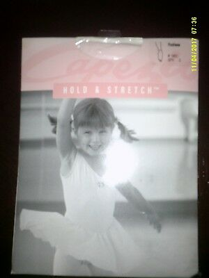 Girl's Capezio Hold & Stretch Footless Light Suntan Size Large