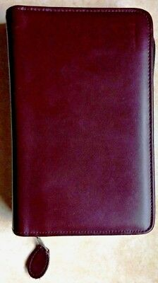 "Day-Timer Leather Zippered 1.5"" Planner Cover Desk Size 5.5""x8.5"" 5 1/2"" 8 1/2"""
