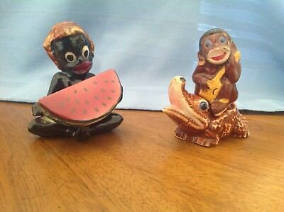 Vintage Salt and Pepper Shakers, Black Americana