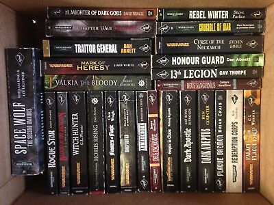Warhammer - 26 book lot - Abnet, Counter, Werner, Thorpe