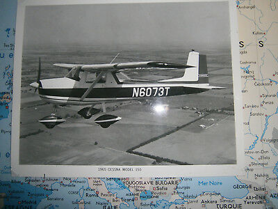 Photo 1965 Cessna Model 150 Haut 20Cm Sur 25Cm N6073T