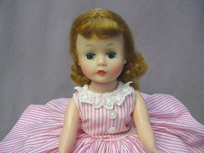 MADAME ALEXANDER 1950's Blonde Cissette Doll Tagged Dress