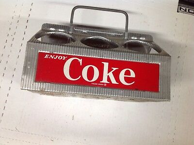 Vintage Coca Cola Aluminum Metal Carrier Carton Advertising