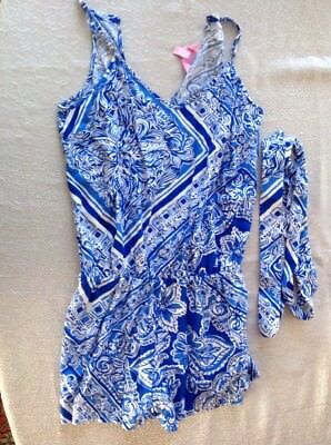 Lily Pulitzer Romper One Piece Shorts Size XS Women
