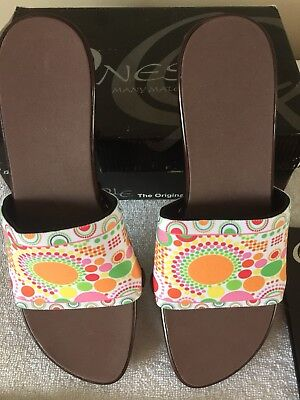 ONESOLE INTERCHANGEABLES WEDGE SANDALS Womens Sz 9 With 2 EXTRA PR MATES NEW