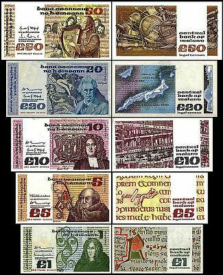 Ireland-ND1976-1993 Issue 1,5,10,20,50 Irish Pounds Reproduction/Reprint/Copy