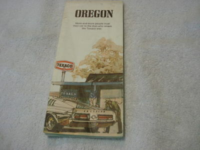 Texaco Road Map of Oregon 1967-68 Mustang GT350, GT500 on cover