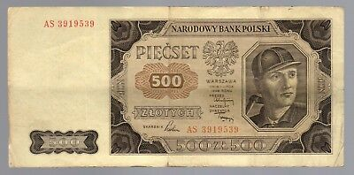 Poland:  500 Zlotych  (1948)  (As 3919539)