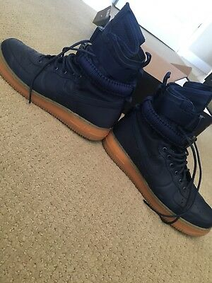 188186de4f67ee Nike Sf Af1 Air Force 1 Special Forces Midnight Navy Gum 864024 Size