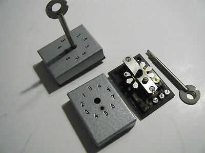 Vintage MYSTERY 10 Position Rotary Switch With Key 1940's to 1950's