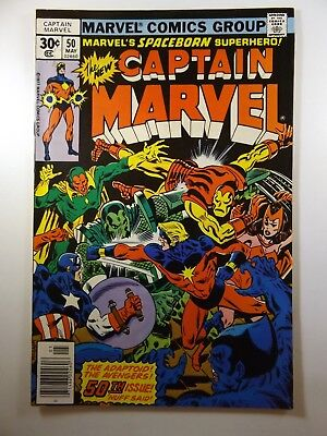 Captain Marvel #50 1st Appearance of the Super Adaptoid!! Awesome VF-NM!!