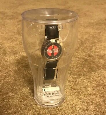 Collectible 2003 Coca Cola Wrist Watch In Plastic Glass Bank