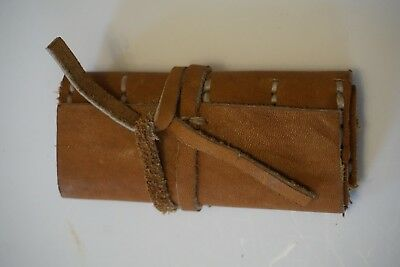 Handmade Flint Wallet Leather Pouch Colonial Frontiersman Indian Native