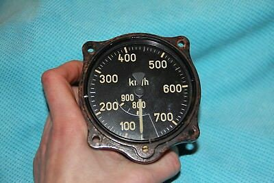 WW2 German rare Air Speed Indicator Fl.22234 from Me109, Fw190, Me110