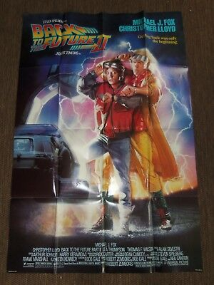 Vintage 1989 Back To The Future Ii Original Movie Theater Poster 27 X 41